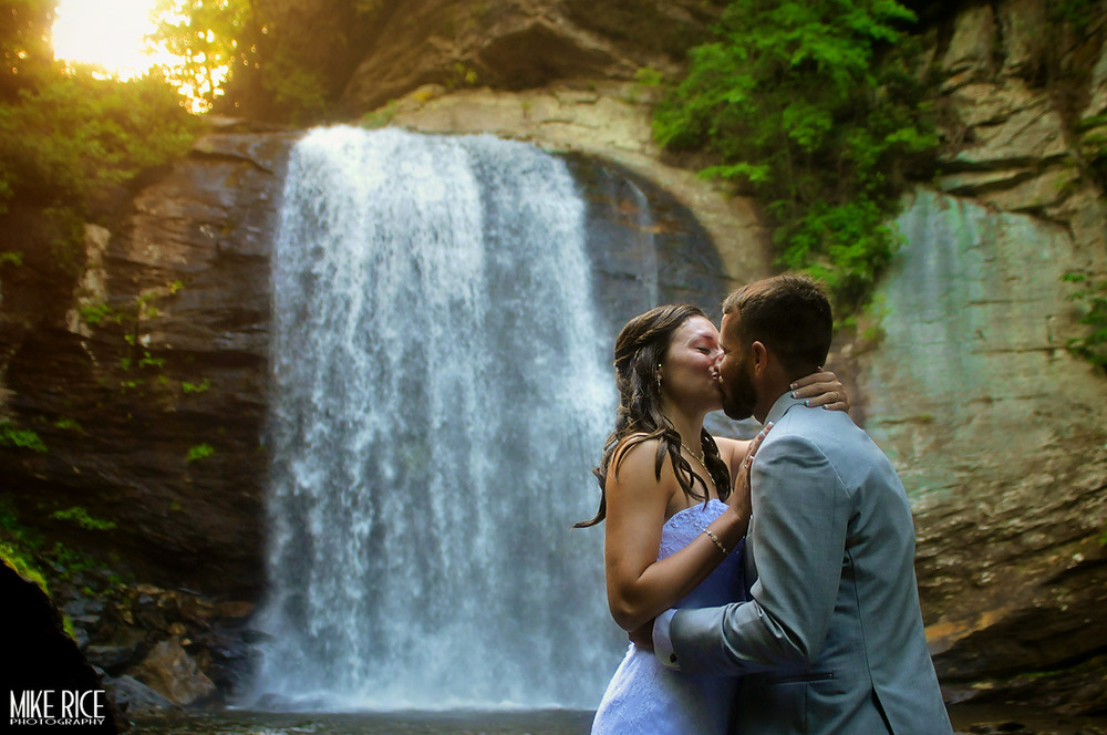 Wedding Photography - North Carolina - Looking Glass Falls Wedding Photography