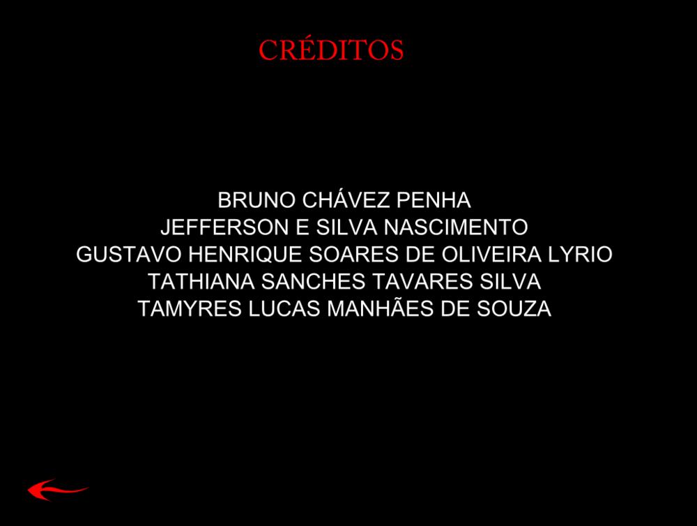 Tamys Portfolio - Nightmare: Credits