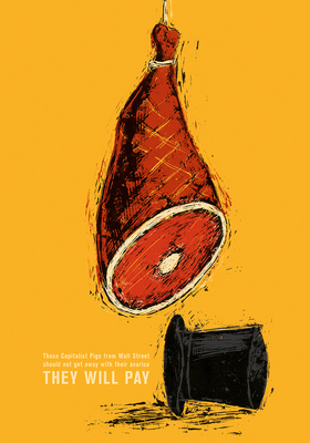 Bruno Rivera | Graphic Design & Illustration - Jamón Capitalista Capitalist Ham 2013