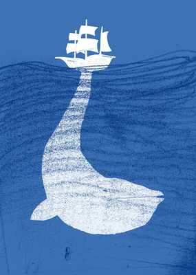 Bruno Rivera | Graphic Design & Illustration - Moby Dick (O el Problema de Estar Obsesionado) Moby Dick (Or the Trouble of Being Obsessed) 2014