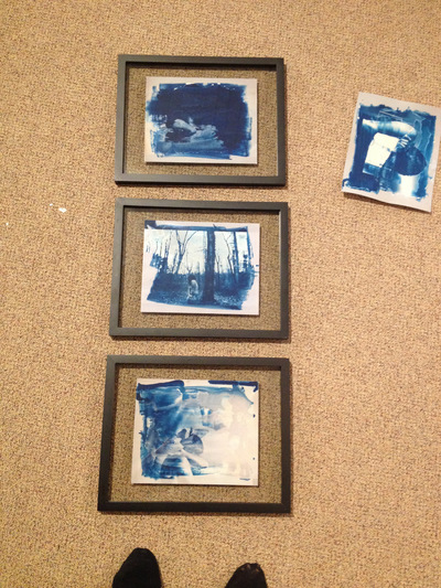Amryn Soldier: Wedding and Portrait Photographer - Framing the finished prints for entry into the Juried Show.
