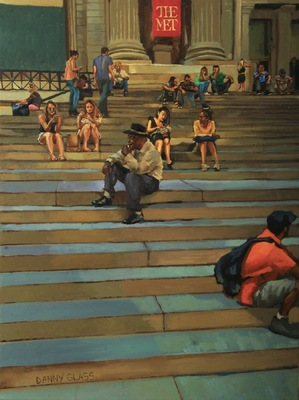Danny Glass - On the Stairs Outside the Metropolitan Museum of Art