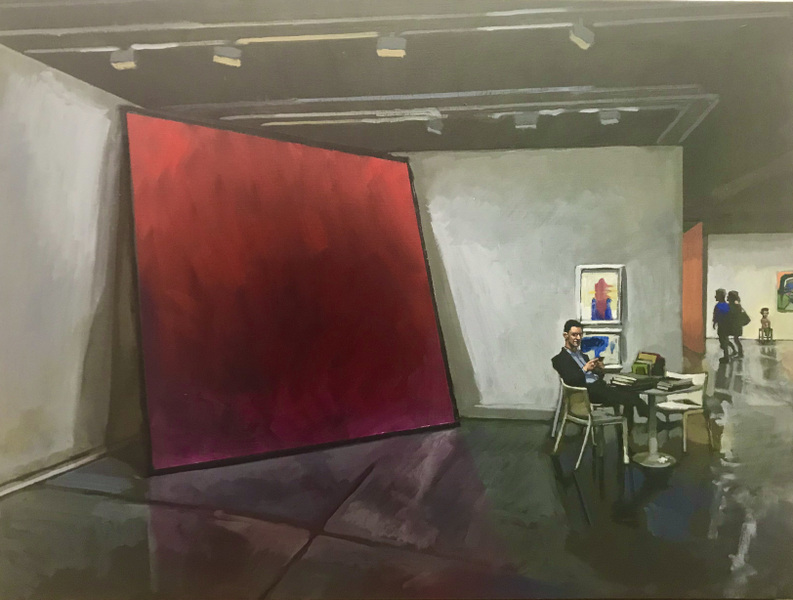 Danny Glass - Big Red Painting