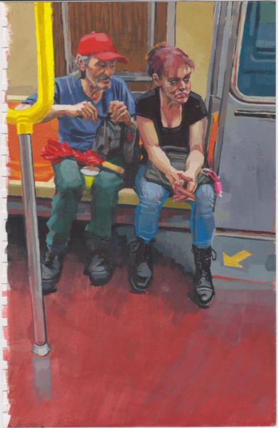 Danny Glass - Subway Couple