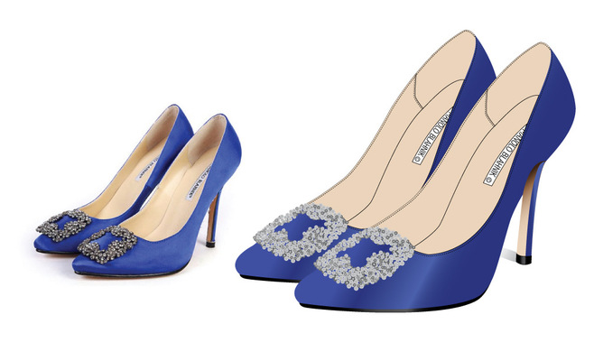 Kimberlee Peers-Moore Designer - Re-created Manolo Blahnik technical