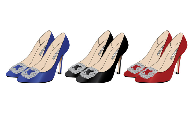 Kimberlee Peers-Moore Designer - Set of three colorways for Manolo Blahnik re-created technical
