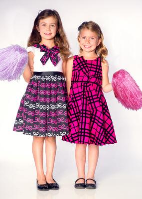 Kimberlee Peers-Moore Designer - Bow print dress fabric designed by Kimberlee Peers-Moore. Dresses designed by Kimberlee Peers-Moore