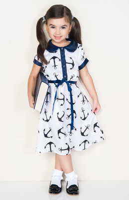 Kimberlee Peers-Moore Designer - Nautical dress and anchor print designed by Kimberlee Peers-Moore