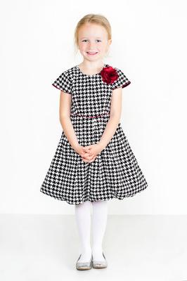 Kimberlee Peers-Moore Designer - Darla houndstooth print matte satin dress. fall 2014