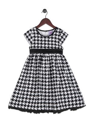 Kimberlee Peers-Moore Designer - Vanessa houndstooth print dress designed by Kimberlee Peers-Moore Fall 2016