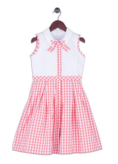 Kimberlee Peers-Moore Designer - Ivy Coral. Cotton seersucker print dress designed by Kimberlee. Spring 2017