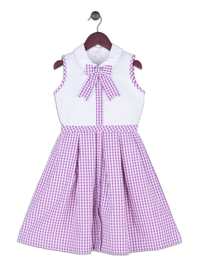 Kimberlee Peers-Moore Designer - Ivy Lilac. Cotton seersucker print dress designed by Kimberlee. Spring 2017