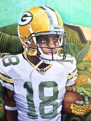 Billy Morehouse - Video/Motion Graphics / Audio and Music / Design / Illustration / Art - Randall Cobb - acrylic on wood - 2014 - $425