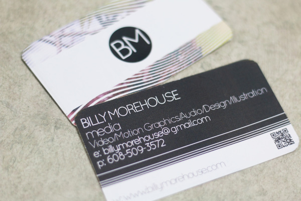 Billy Morehouse - Video/Motion Graphics / Audio and Music / Design / Illustration / Art - Business Card Design