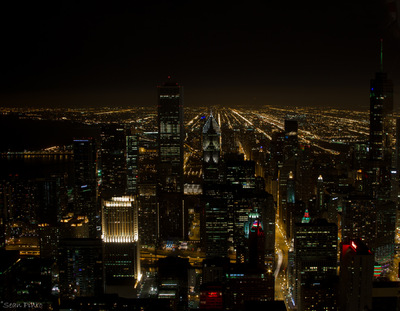 Sean Pinto photoGRAPHY - Chicago skyline from the John Hancock Observatory