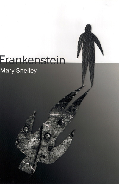 The Other Side of Perfect - Frankenstein by Mary Shelly; Ink, Cut Paper, Thread; 8x5; 2013