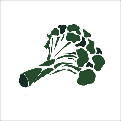 The Other Side of Perfect - Illustrator Graphic, Multiple Greens, Colored Broccoli, 2015