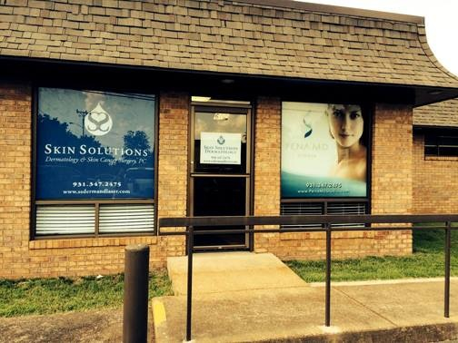 AlphaGraphics Franklin - Window clings for Skin Solutions in Pulaski, TN