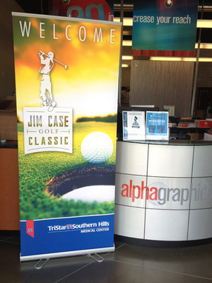 AlphaGraphics Franklin - Retractable banner