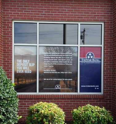 AlphaGraphics Franklin - Window cling (2 of 2) for TriStar Bank