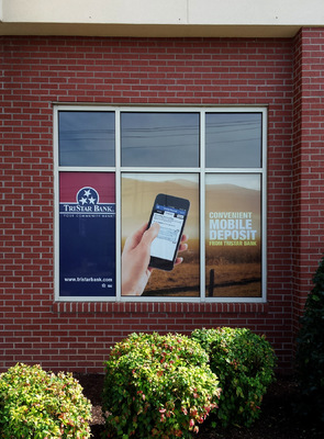 AlphaGraphics Franklin - Window cling (1 of 2) for TriStar Bank