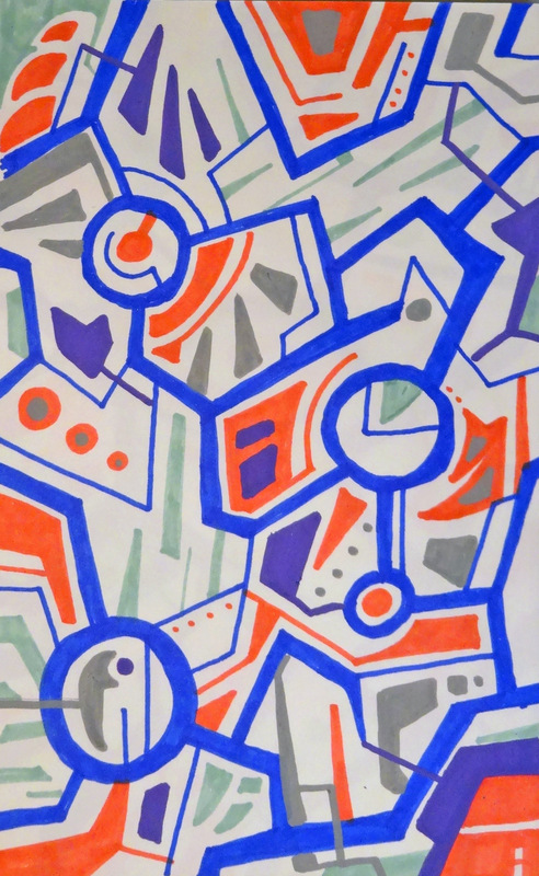 EliseoSonnino.com - summer trips #1 2013 25x18 cm markers on paper