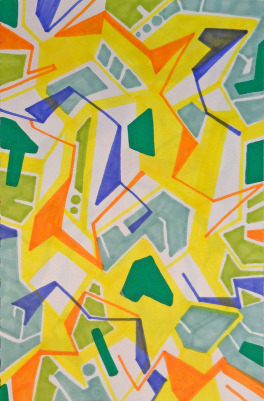 EliseoSonnino.com - Summer trips #3 2013 25x18 markers on paper