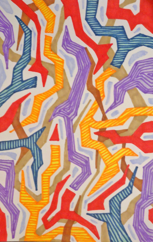 EliseoSonnino.com - summer trips #4 2013 25x18 markers on paper
