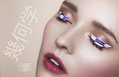 Junko Komada MAKE UP& HAIR - lucys magazine 幾何学