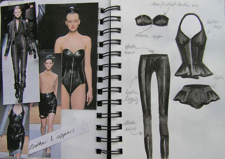 fashion designer & illustrator - sketchbook Fall 2010