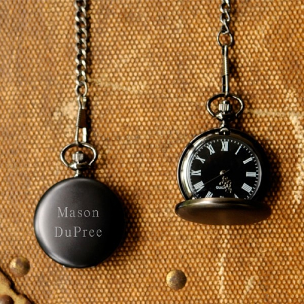 PersonalizedGiftsGuru - MIDNIGHT Pocket Watch
