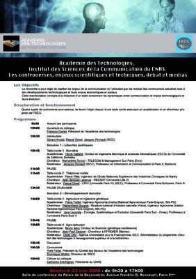 Portfolio Aymeric Thach - Affiche dun séminaire de lISCC à lacadémie des technologies