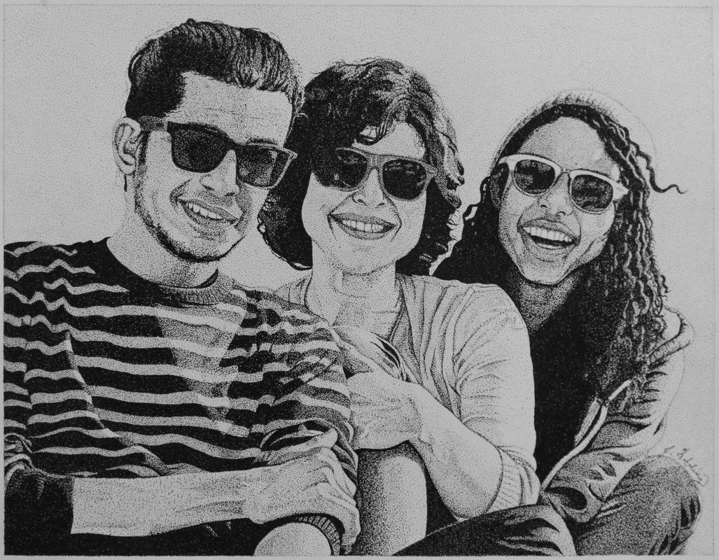 My Artwork - Shauna Commisson Pen and ink. Stippling/pointillism. 14 x 11.