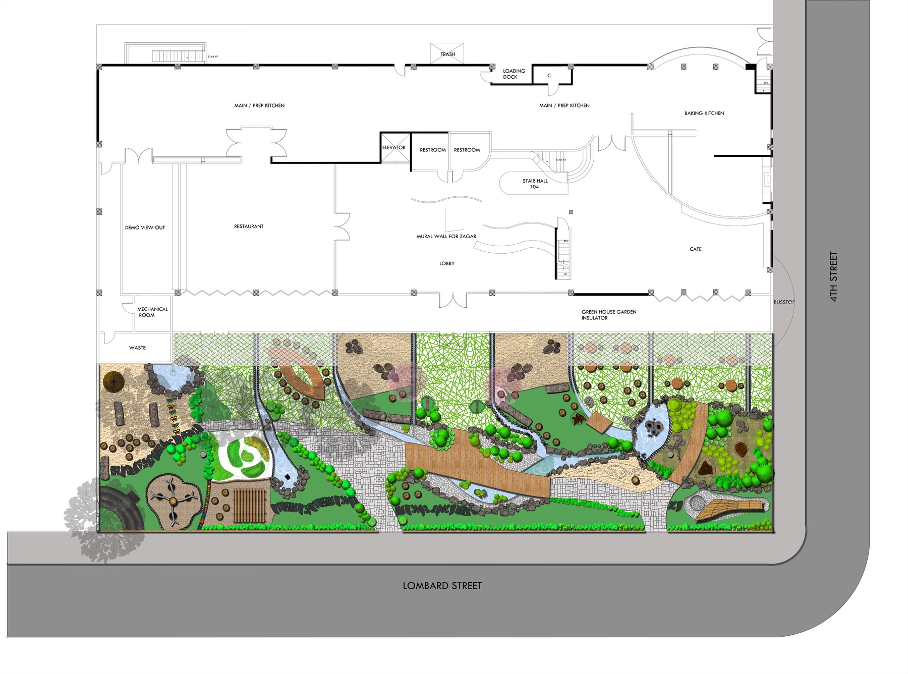 Sustainable Landscape Design for Culinary School Design works