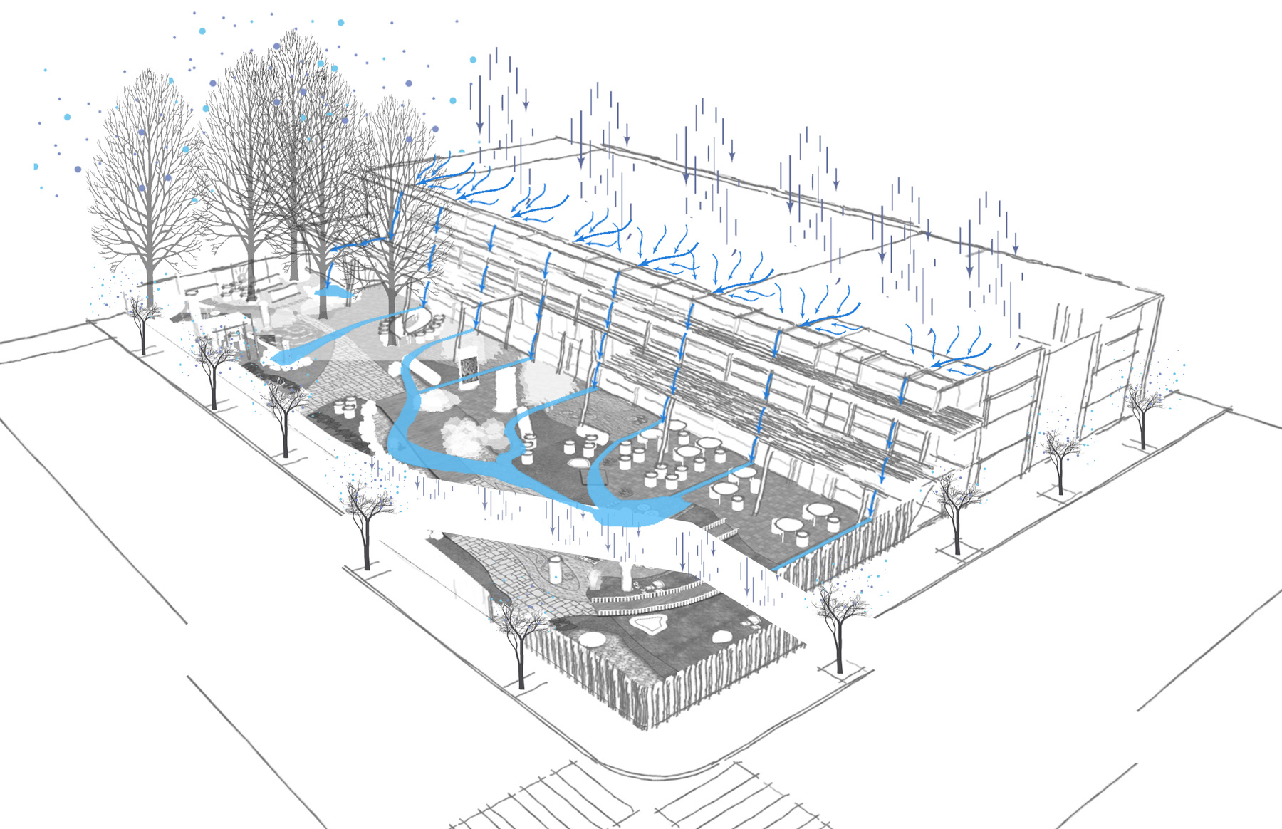 Sustainable landscape design for culinary school design works design works water flow diagram pooptronica Gallery