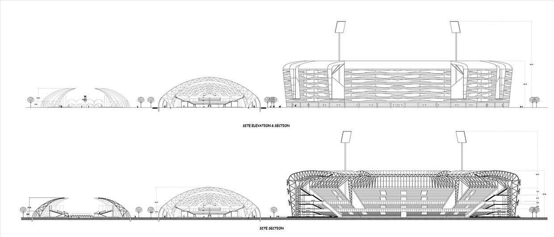 Sports complex design works for Indoor cricket net design