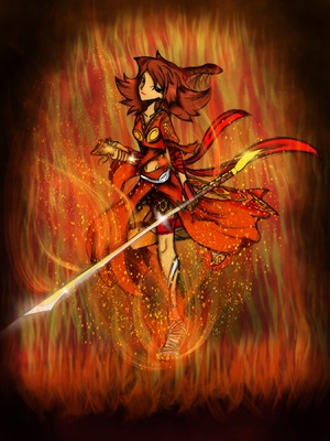 Jason Rodways Portfolio - Fire Goddess