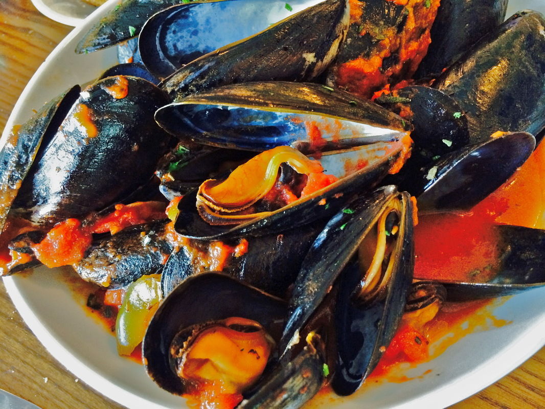 Barrie Schneiderman - Spicy Cioppino Mussels, The Rye Grill & Bar, Rye, NY