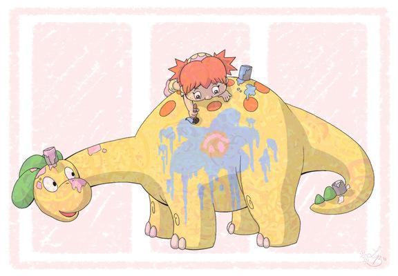An Assortment of Daydreams - Dinosaur Paint Fun
