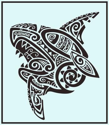 An Assortment of Daydreams - Polynesian Shark Tattoo