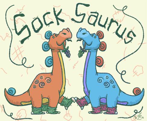An Assortment of Daydreams - Sock Saurus