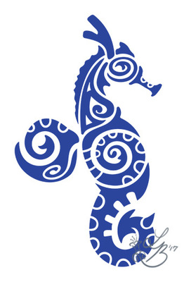 An Assortment of Daydreams - Polynesian Seahorse Tattoo