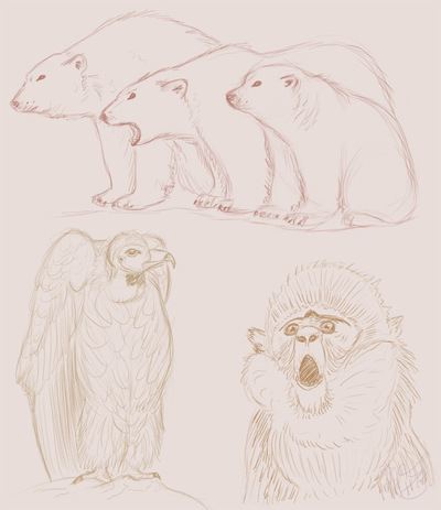 An Assortment of Daydreams - Animal Sketches 4