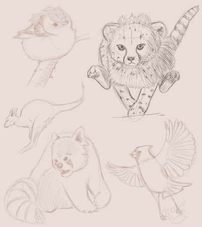 An Assortment of Daydreams - Animal sketches 3