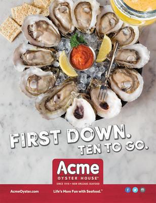 Lori Archer-Smith - Acme Oyster House LSU Sponsorship Print Ad