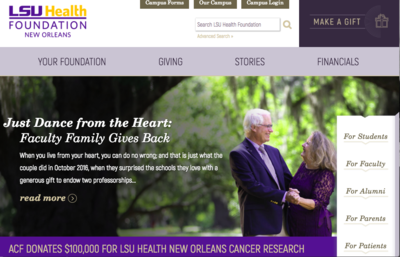Lori Archer-Smith - LSU Health Foundation Website