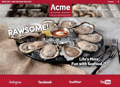 Lori Archer-Smith - Acme Oyster House Landing Page