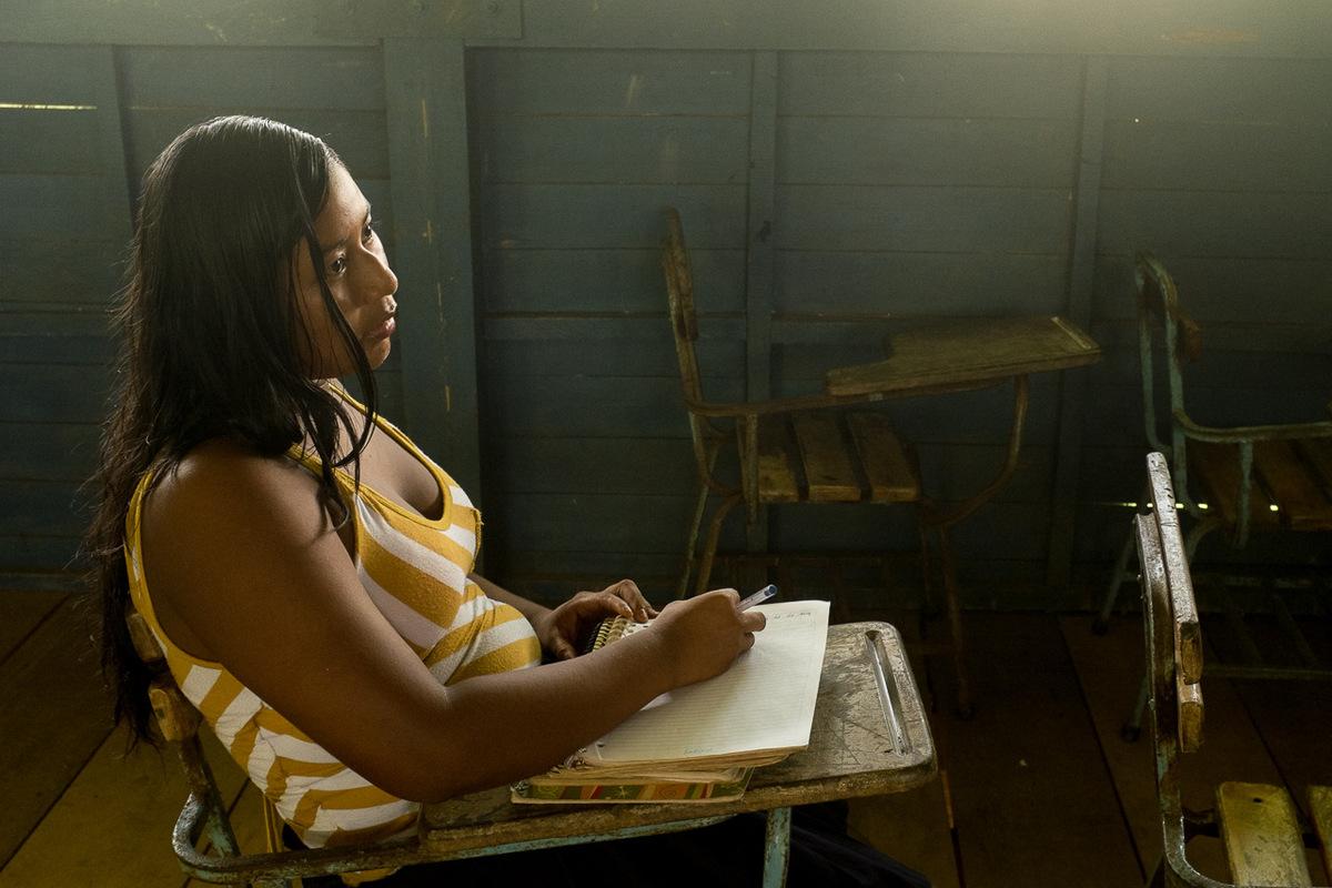 Adrienne Surprenant - Seulement dix personnes parlent encore la langue autochtone Rama. Deux dentre elles lenseignent aux jeunes à lécole de Bangkukuk Taik.