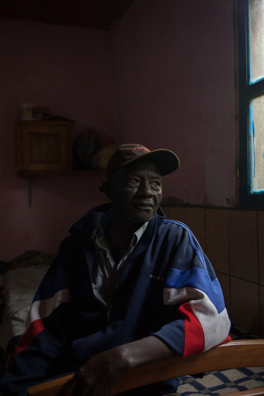 Adrienne Surprenant - Sylvestre Tchokosseu, 61, drove more than eight hours from southern Cameroon to the wound hospital to treat his ulcerated feet, wounds that had been there for more than 20 years. At first, I thought the wound was a spell, was a cast. I visited many traditional healers before coming here. After 8 months at the Wound Hospital, his leg remains infected.
