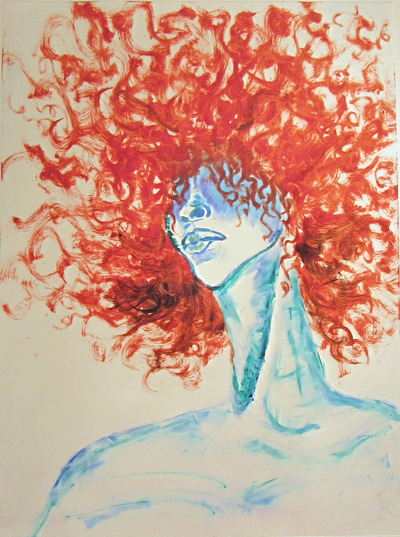 Jessica Cherry - Onus, 2014 Monoprint 18x24 inches